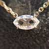 0.78ct Marquise Rose Cut Diamond Pendant 4