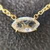 0.78ct Marquise Rose Cut Diamond Pendant 20