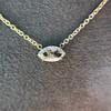 0.78ct Marquise Rose Cut Diamond Pendant 9
