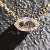 0.78ct Marquise Rose Cut Diamond Pendant 24