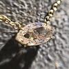 0.78ct Marquise Rose Cut Diamond Pendant 5