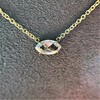 0.78ct Marquise Rose Cut Diamond Pendant 11