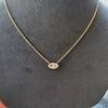 0.78ct Marquise Rose Cut Diamond Pendant 25