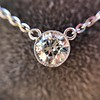 0.85ct Old European Diamond Bezel Pendant 11