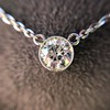 0.85ct Old European Diamond Bezel Pendant 10
