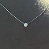 0.85ct Old European Diamond Bezel Pendant 14