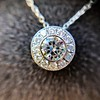 0.93ctw Diamond Filigree Halo Pendant by Steven Kirsch 8