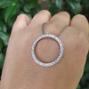 1.00ctw Circle Diamond Pendant 7