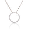1.00ctw Circle Diamond Pendant 0