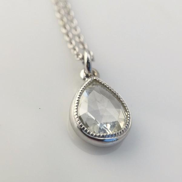 103ct pear shape rose cut diamond pendant jewels by grace more views 103ct pear shape rose cut diamond pendant 0 aloadofball Images