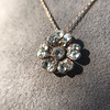 1.04ctw Victorian Rose Cut Diamond Pendant 11