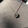 1.04ctw Victorian Rose Cut Diamond Pendant 12