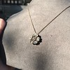 1.04ctw Victorian Rose Cut Diamond Pendant 14