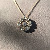 1.04ctw Victorian Rose Cut Diamond Pendant 9