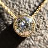 1.20ct Old European Cut Diamond Bezel Necklace (AGS K SI1) 16