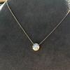 1.20ct Old European Cut Diamond Bezel Necklace (AGS K SI1) 6