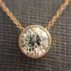 1.20ct Old European Cut Diamond Bezel Necklace (AGS K SI1) 20