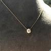 1.20ct Old European Cut Diamond Bezel Necklace (AGS K SI1) 12