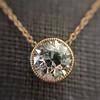 1.20ct Old European Cut Diamond Bezel Necklace (AGS K SI1) 9