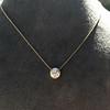 1.20ct Old European Cut Diamond Bezel Necklace (AGS K SI1) 3