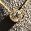 1.20ct Old European Cut Diamond Bezel Necklace (AGS K SI1) 19
