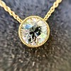 1.20ct Old European Cut Diamond Bezel Necklace (AGS K SI1) 15