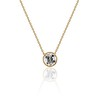 1.20ct Old European Cut Diamond Bezel Necklace (AGS K SI1)