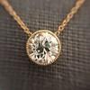 1.20ct Old European Cut Diamond Bezel Necklace (AGS K SI1) 2