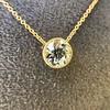 1.20ct Old European Cut Diamond Bezel Necklace (AGS K SI1) 14