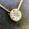 1.20ct Old European Cut Diamond Bezel Necklace (AGS K SI1) 5