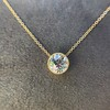 1.20ct Old European Cut Diamond Bezel Necklace (AGS K SI1) 4