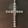 1.34ctw Art Deco Cross Pendant  2