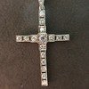 1.34ctw Art Deco Cross Pendant  5