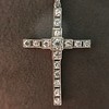 1.34ctw Art Deco Cross Pendant  1