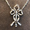 1.98ctw Edwardian Fancy Pave Bow Necklace 8