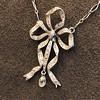 1.98ctw Edwardian Fancy Pave Bow Necklace 7