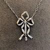 1.98ctw Edwardian Fancy Pave Bow Necklace 1