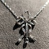 1.98ctw Edwardian Fancy Pave Bow Necklace 4
