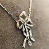 1.98ctw Edwardian Fancy Pave Bow Necklace 10