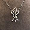 1.98ctw Edwardian Fancy Pave Bow Necklace 6