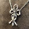 1.98ctw Edwardian Fancy Pave Bow Necklace 11