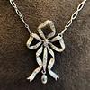1.98ctw Edwardian Fancy Pave Bow Necklace 9