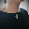 1.98ctw Edwardian Fancy Pave Bow Necklace 20