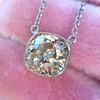 2.01ct Cushion Cut Diamond Bezel Necklace 21