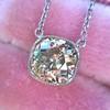 2.01ct Cushion Cut Diamond Bezel Necklace 23