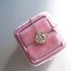 2.01ct Cushion Cut Diamond Bezel Necklace 30