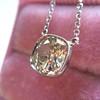 2.01ct Cushion Cut Diamond Bezel Necklace 25
