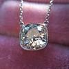 2.01ct Cushion Cut Diamond Bezel Necklace 10