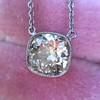 2.01ct Cushion Cut Diamond Bezel Necklace 12