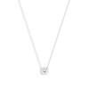 2.01ct Cushion Cut Diamond Bezel Necklace 0